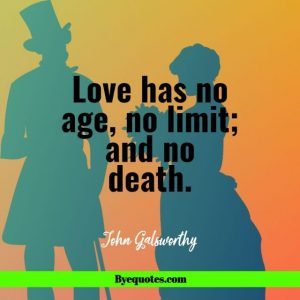 """Quote from Byequotes.com - """"Love has no age, no limit; and no death."""""""